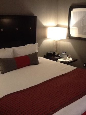 Kimpton Onyx Hotel: comfy bed and great LED lighting, which still looked warm and welcoming.