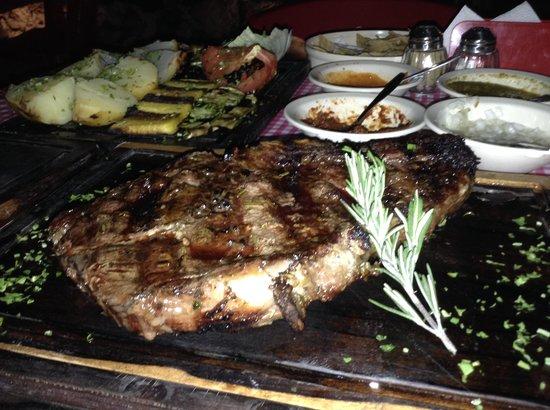 La Parrillada Tulum: Rib Steak & Vegetables