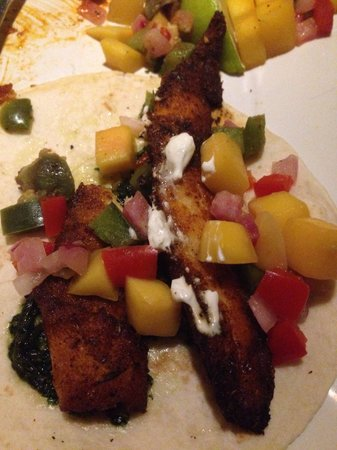 The Elbow Room: The grouper fish tacos were a little overcooked