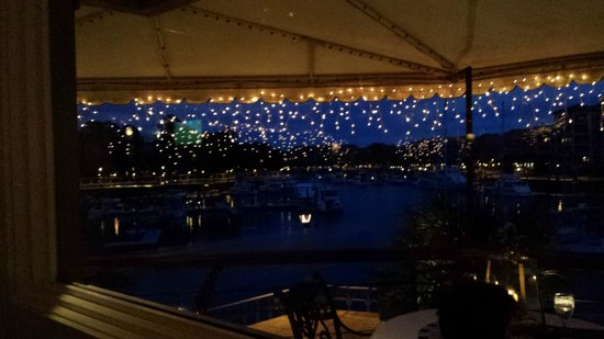 ELA'S Blu Water Grille: View from restaurant at night