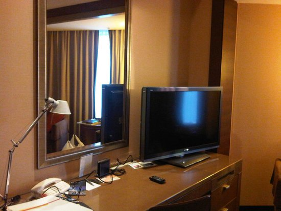 Ana Intercontinental Tokyo: TV and mirror