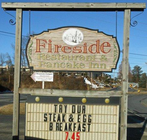 Fireside Restaurant & Pancake Inn : Sign
