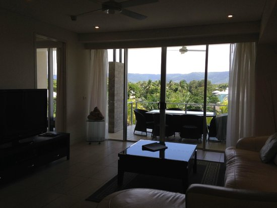 Coconut Grove Apartments: View looks over the main street of Port Douglas towards the west