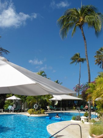 Mango Bay All Inclusive: Mango Bay Resort pool under beautiful Barbados sky