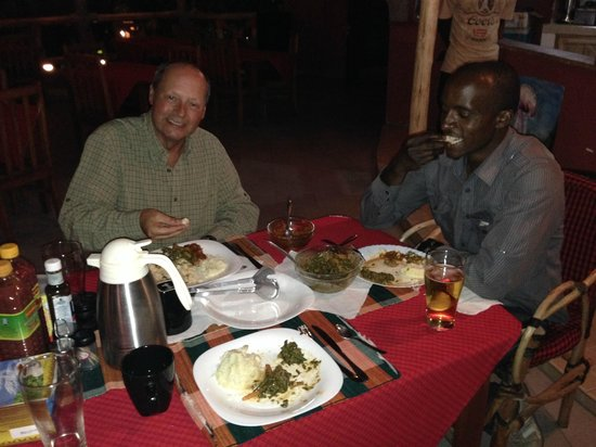 The Vijiji Center Lodge & Safari : Traditional African meal