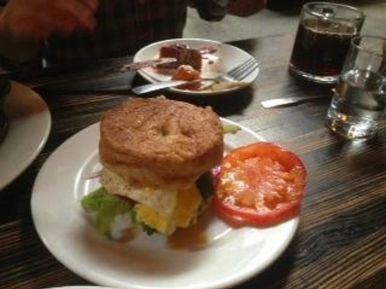A breakfast sandwich at Tasty N Sons