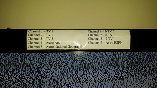 Hallmark Hotel: Channel available but not properly tuned to or not tuned at all