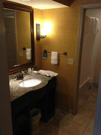 Homewood Suites Syracuse/Liverpool: Bathroom-sink area