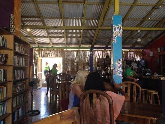 El Gato Negro: The restaurant/book-store area