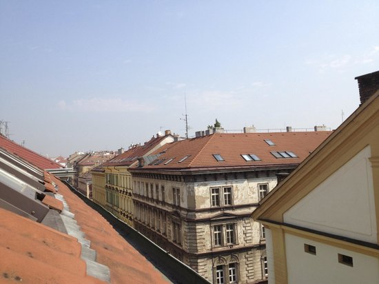 La Boutique Hotel Prague : A morning view from the attic room