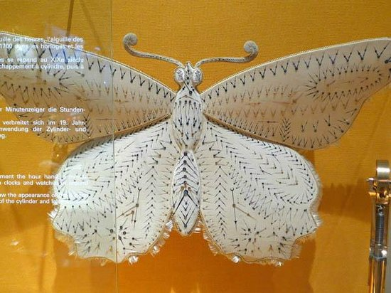 International Museum of Watches: Butterfly with watch hands...