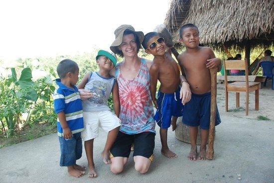 Cotton Tree Lodge : My eldest enjoying the company of Eladio's boys ...