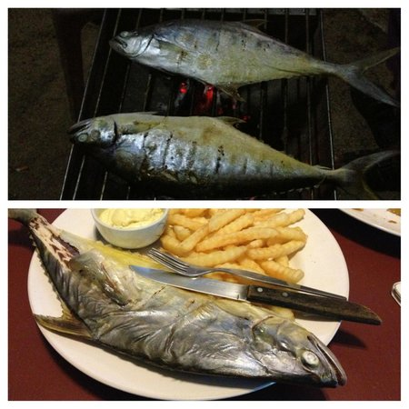 Blue Lotus Resort : Freshest fish and chips ever, out of the sea for less than one hour!