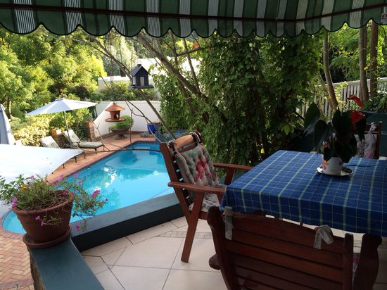 Edenwood Guest House: Patio and swimming pool