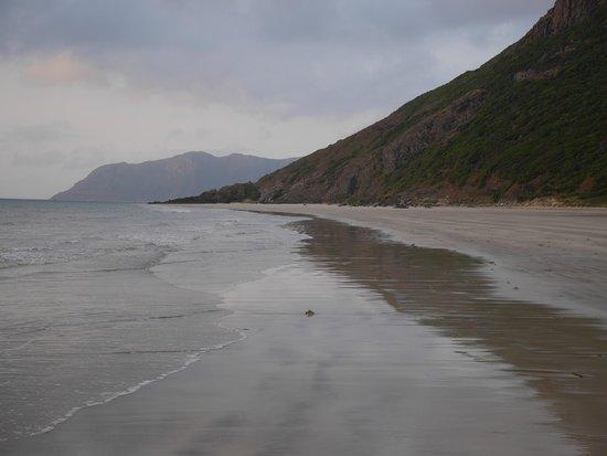 Six Senses Con Dao: The beach (sky is overcast)
