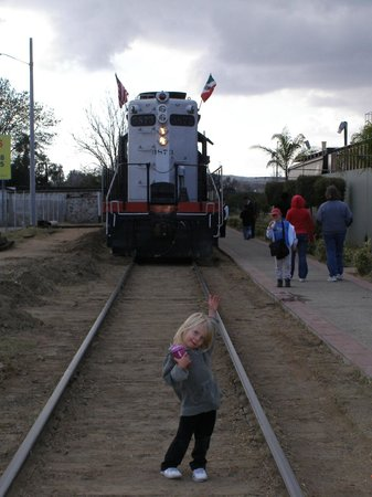 Pacific Southwest Railway Museum : In front of the train in Tecate