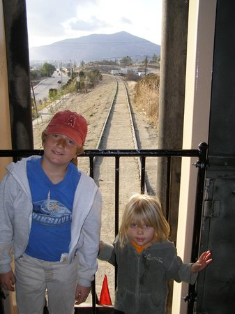 Pacific Southwest Railway Museum : In the back of the train on the way back from Mexico