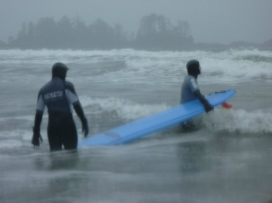 Pacific Surf School: rough weather!