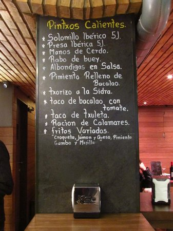 Bodegon Sarria: menu