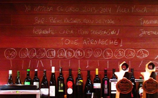 La Cocina De Alex Mugica: vinos