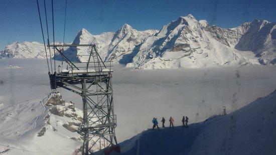 Hotel Gletschergarten: Schilthorn and the thrilling black piste down to Birg