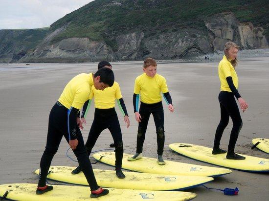 Preseli Venture: schools surf lesson