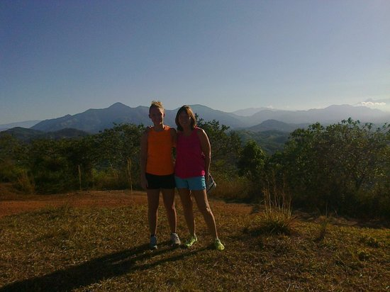 Costa Rica Waterfall Tours : My daughter and myself