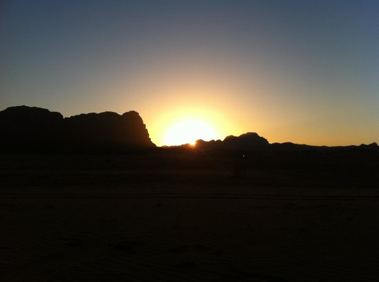 Rahayeb Desert Camp: Tramonto
