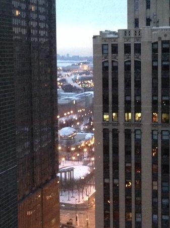 Hard Rock Hotel Chicago: Vue sur le Cloud Gate au 22e étage