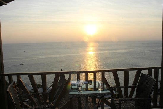 Aminjirah Resort : vue de notre terrasse