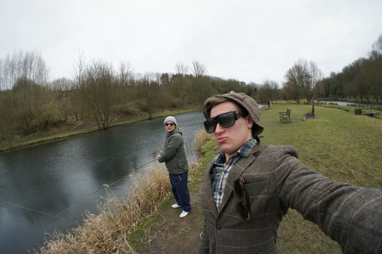 Chalk Springs Trout Fishery: 100 year old fisherman