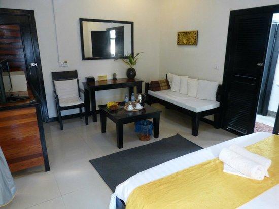 The Sanctuary Villa: The living area of our villa