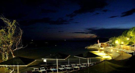 Night on the beach at Teos Village