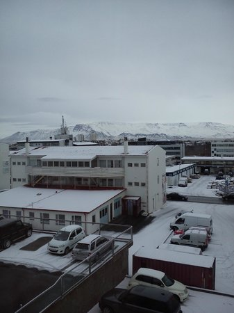 Hotel Vik Arctic Comfort : View from my room, rear of hotel.
