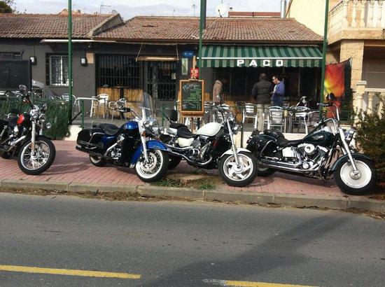 Carabana, Španělsko: Ruta motera, bar de moteros.