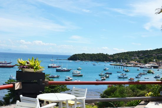 Hotel El Cazar : Vista da baía de Buzios