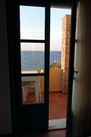 Hotel Grotta: Vue de notre chambre
