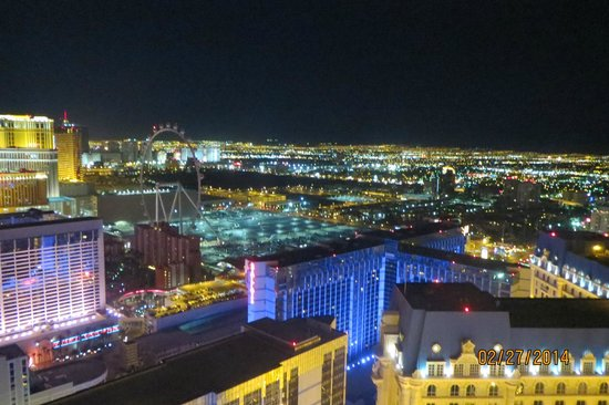 Eiffel Tower Experience at Paris Las Vegas : Night View from Eiffel Tower