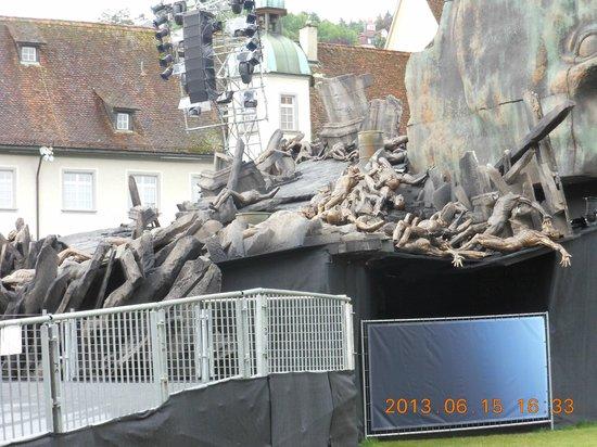 Fürstabtei St. Gallen: 2013年6月の特別な行事(フェスティバル)前の状態!