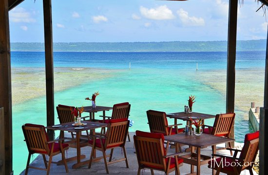 CoCo Beach Resort: breakfast view