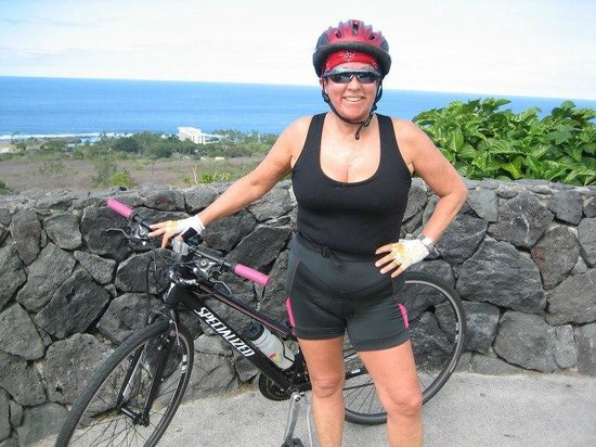 Kona Seaspray: biking in Kona just above the Seaspray
