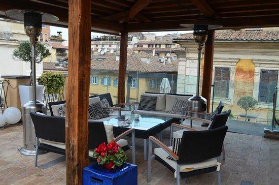 Albergo Cesari: Terrasse