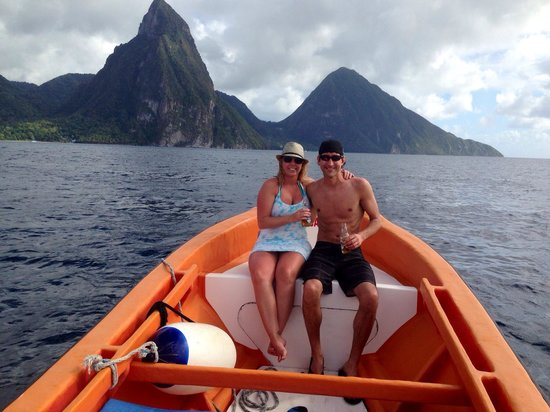 Israel King Water Taxi  Private Tours : Beautiful Pitons