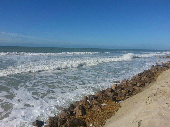 Novotel Thalassa Le Touquet: Vue de la plage, juste devant le bar de l'hôtel