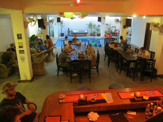 The Siem Reap Hostel: Resto/bar during early happy hour