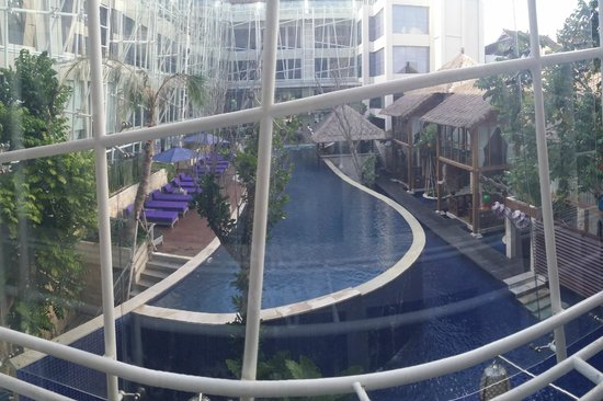Grand Mega Resort & Spa: 9am, view from room.