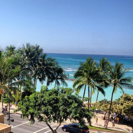 Aston Waikiki Circle Hotel : I had a partial view of the ocean...imagine the room with front view.