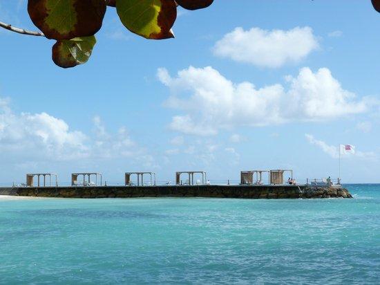 La Créole Beach Hôtel : Ponton/Bord de plage
