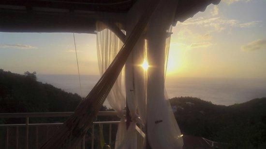 Harmonie Creole: tramonto dalla terrazza