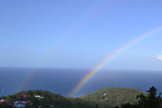 Harmonie Creole: arcobaleno dalla terrazza